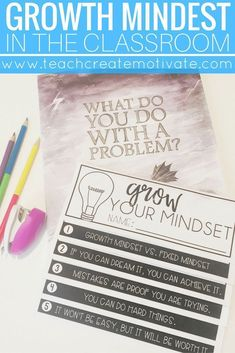 Teaching growth mindset is so important! This post has ideas and freebies to help!