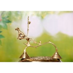 This is a handcrafted brass souda ubachar bhayrava deep, made specifically for the ritualistic worship of God. Brass Lamp, Decorative Bells, Deep, Traditional, Unique, Corner, Home Decor, Products, Decoration Home