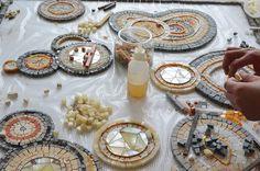 Mosaic Kitup - Mosaic Kit - Wip Mosaic Art - Mozaico Smalti Mosaic Studio – Mosaic Mural Project – Work in Progress – Mosaic Art Source - Mozaico