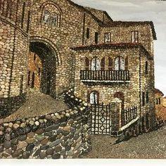 #art #mozaik #mozaika #tablo #pebbleart #pebblemosaic #cappadocia #han#çakıltaşı #taş#mosaic