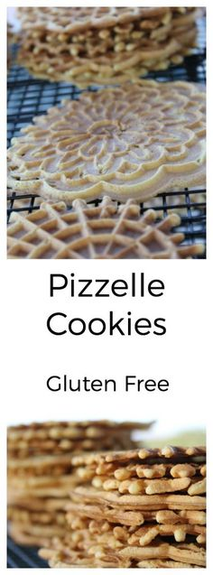 Pizzelle Cookie - Gluten Free ~ The Nourished Family