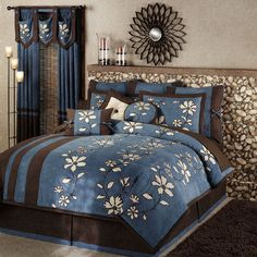 Shadow Comforter Bedding -- Blue and brown bedding