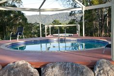Kyogle, NSW - Nice view from the spa!