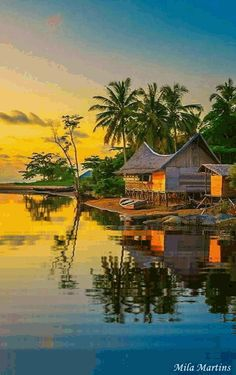 An evening at Temajuk Indonesia by Edanan Taiban . Relax with these backyard landscaping ideas and landscape design. Beautiful Nature Pictures, Beautiful Nature Wallpaper, Amazing Nature, Beautiful Landscapes, Village Photography, Landscape Photography, Nature Photography, Beautiful Places To Travel, Beautiful World