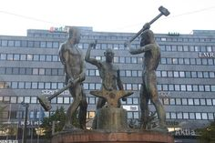 Statue of the Kalevala, a Finnish legend that was the inspiration for Lord of the Rings