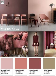 Pantone Colour of the year Marsala Ceiling Painting, African Interior, Pantone Color, Pantone 2015, Color Of The Year, Color Theory, Marsala, Wall Colors, Color Trends