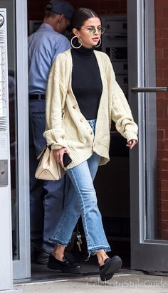 Selena Gomez Is Bringing Back The Grandpa Sweater Trend