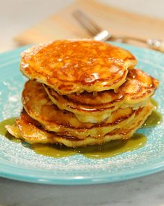"""From Clinton street Bakery Co in NYC:   BEST PANCAKES you will ever make. The secret is folded in egg whites. You have to try this w/ these with """"maple butter."""" (  butter and maple syrup warmed up together in microwave )"""