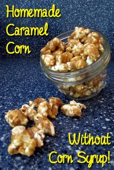 Caramel corn without corn syrup: BrownThumbMama.com