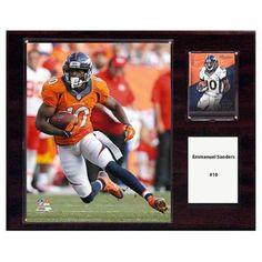 C and I Collectables NFL 15W x 12H in. Emmanuel Sanders Denver Broncos Player Plaque - 1215ESANDERS