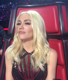 Gwen Stefani for The Voice. Makeup: Gregory Arlt. Hair: Robert Vetica. Styling: Rob and Mariel.