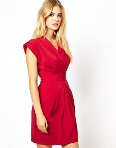 Closet Wrap Front Tulip Dress