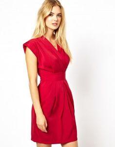 Closet Wrap Front Tulip Dress