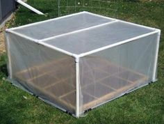 PVC greenhouse - I couldn't see instructions for this but it wouldn't be too terribly difficult to duplicate.