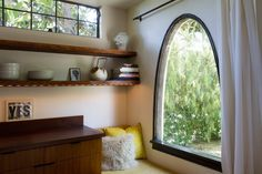 Peggy & Chris' Los Angeles Modern. Gorgeous arch window. #window #modern #home