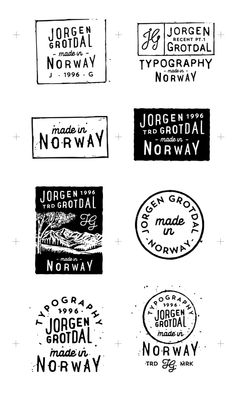 Logos & Typography by Jorgen Grotdal, via Behance