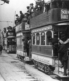 Trams in Dublin City - c 1912 Old Pictures, Old Photos, Vintage Photos, Ireland Pictures, Old Irish, Irish People, Ireland Homes, Dublin City, Dublin Ireland