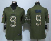 Dallas Cowboys #9 Romo Green Salute Limited Jersey