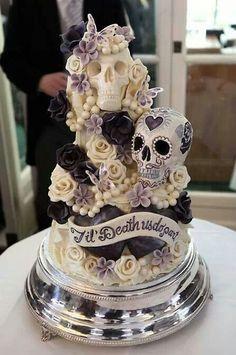 El Dia de los Muertos wedding cake