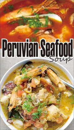 The Parihuela is a lusty and spicy seafood soup that has unassuming origins in the fishing communities of Peru and is rattling favorite all . Seafood Soup Recipes, Sea Food Salad Recipes, Seafood Stew, Chowder Recipes, Easy Soup Recipes, Kraft Recipes, Fish Recipes, Cooking Recipes, Healthy Recipes