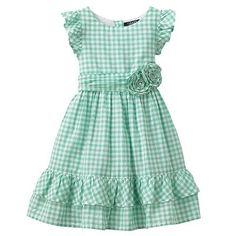 Chaps Gingham Rosette Dress - Girls 4-6x