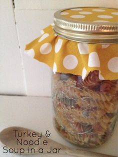 Turkey and Noodle Soup in a Jar