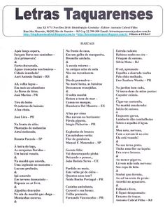 Haicais Blog: Letras TaquarensesAno XI Nº 71Novembro/Dezembro 2...