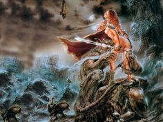 Luis Royo - Honey from the Shadows World Of Fantasy, Dark Fantasy, Fantasy Art, Reese Royce, Beast Wallpaper, Julie Bell, Luis Royo, Red Sonja, Gil Elvgren