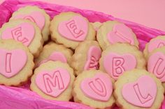 Letter love cookies