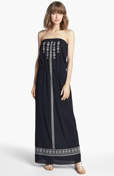 Velvet by Graham & Spencer 'Mindy' Embroidered Maxi Dress available at #Nordstrom