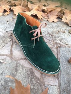 Desert boots men genuine leather winter shoes by SANDALIANAS, $103.40