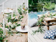 Floral Table decor for the wedding, overflowing the tables, boho flowers, Blumige Tischdekoration, Blumen wachsen über den Tisch, bohemian, Hochzeitsstrauß, wedding bouquet inspiration, flowers for the wedding, Hochzeitsblumen