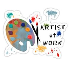 Artist At Work Sticker Journal Stickers, Laptop Stickers, Tumblr Stickers, Easter Crafts For Kids, Aesthetic Stickers, Printable Stickers, Craft Stick Crafts, Art Logo, Artist At Work