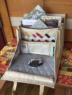 This elegant bag will carry and organize all your sewing, quilting or any other craft supplies.  Heres demo video - http://yxtishka.blogspot.com/2016/11/one-more-ultimate-carry-all-bag-in.html  And one more video with different design and colors - http://yxtishka.blogspot.com/2017/02/any-day-spent-sewing-is-good-day-my-new.html  It has 18 pockets, plus additional vinyl clear bags, attached to the swivel hook for smaller items (needles, embelli...