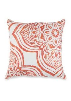 Elise  James Home   Belclaire Coral Square Pillow