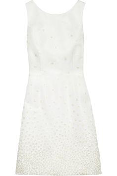 Jason Wu  Embroidered silk-faille dress