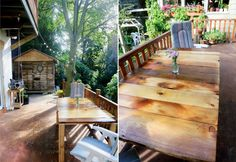 DiY~ Build your own patio table with reclaimed wood