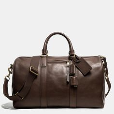 1846791b67b13e Coach    BLEECKER DUFFLE IN LEATHER Men s Totes, Travel Luggage, Travel  Bags,
