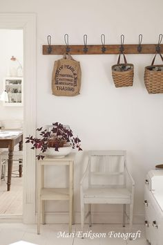 I think you can do neat hooks in your kitchen entry area, but not so you can hang anything that will be in the way, it would be more for looks, and decoration...