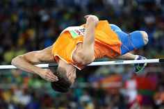 Jeroen Teeuwen of The Netherlands competes in the Men's High Jump T42 final on…