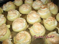 Kókuszos tekercs Hamburger, Muffin, Bread, Breakfast, Food, Painting, Small Cake, Morning Coffee, Eten