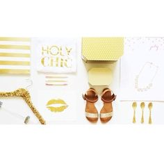 All Gold All the Time (Bloom) Icon Clothing, Holy Chic, Happy Friday, Bloom, Place Card Holders, Gold, Shopping, Style, Ideas