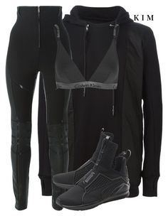 Black outfit featuring 11 by Boris Bidjan Saberi, Dsquared2 and Calvin Klein Underwear