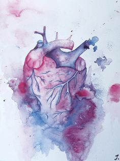 """Aquarell Painting """"He Bleeds"""" #painting by MrsPicca"""