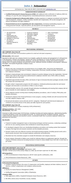Image Name HR Generalist Resume Sample nxRnIXxh Project Management