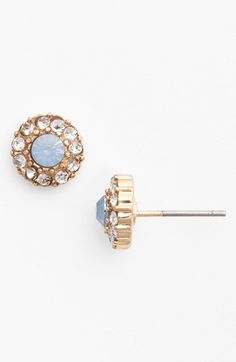 Free shipping and returns on BP. Crystal Flower Stud Earrings (Juniors) at Nordstrom.com. Warm goldtone studs sparkle with glittering crystals that surround a colored stone.