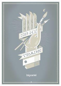 Hand made typography design inspiration