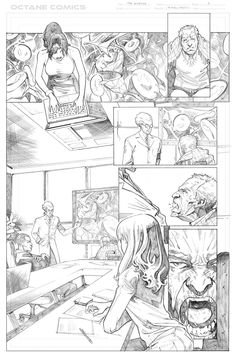 The Disease - 3 - Pencil by me - Property of Octane Comics