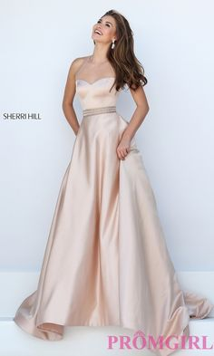Prom Dresses, Celebrity Dresses, Sexy Evening Gowns: Long Illusion Sweetheart Halter Sherri Hill Prom Dress