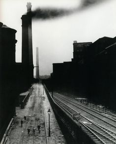 Bill Brandt - an incredibly quite man who spoke little about his work. Difficult to know where his vision came from. He was trained by Man Ray which becomes apparent when you look at the stark contrast and deep blacks in his images.
